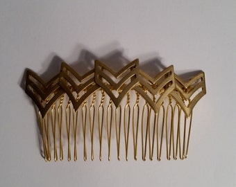 Gold Metal Arrow Comb, for weddings, parties, special occasions