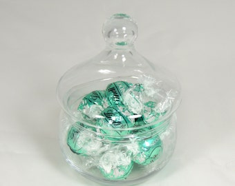 Vintage Glass Sweet Dish Lidded Candy Dish
