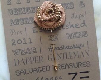 Zipper Flower Mens Lapel Pin