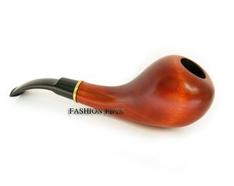 "Wooden Tobacco Pipe Smoking ""IRISH"" Handcrafted Pear Wood, Designed for real Pipe Smokers."