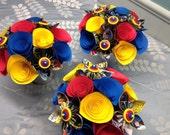 Custom Order Superhero Paper Flower Baby Shower Arrangements - Reserved for J.Larison