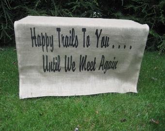 Rustic Wedding, Burlap Banner, Trail Mix Table Sign, Burlap Wedding, Trail Mix Sign, Wedding Burlap Sign