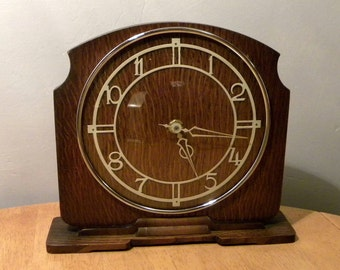 Smiths Sectric Vintage Mantel Shelf Clock - Recycled Battery Operated