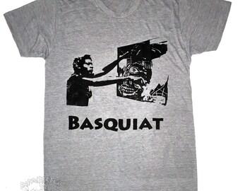 ART ICONO:  The Basquiat Track Tee - Athletic Grey