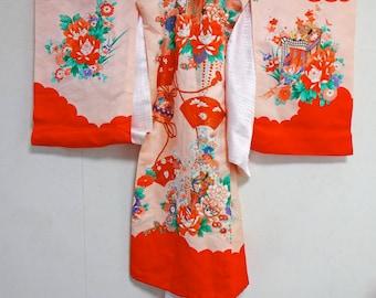Vintage Girl's KIMONO Fabric