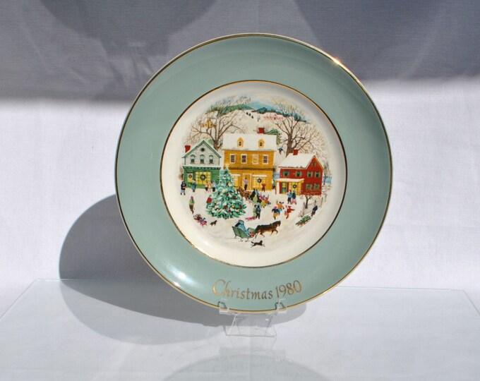 Avon Country Christmas Plate 1980