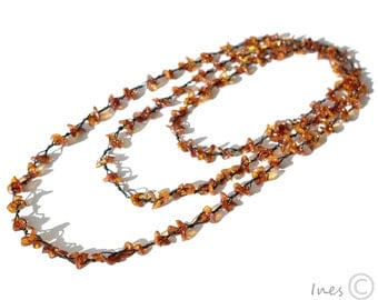 Cognac Baltic Amber Necklace, Bracelet Or Anklet