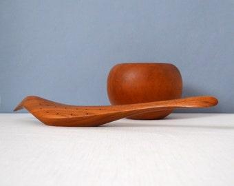 Vintage Hand Crafted Emil Milan Walnut Bird Sculpture