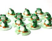 6 Fondant tree frogs. Tree frog topper Reptile fondant toppers Snake fondant topper lizard fondant topper turtle fondant topper reptile