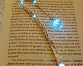 MUSTARD Seed in Glass Bubble Bookmark GLOW in the DARK