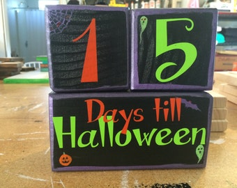 Halloween Countdown Blocks