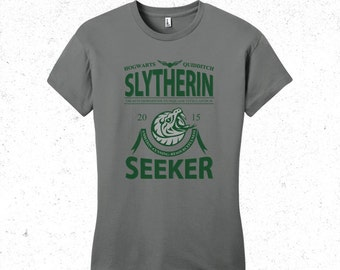 Harry Potter t-shirt women's - Slytherin Quidditch tshirt - Sports team logo