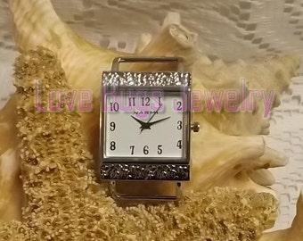 White Square Large Watch Face - Interchangeable Watch Face, Ribbon Watch Face, Watch Face for Beading,Watch Face Jewelry,Watch Face Bracelet