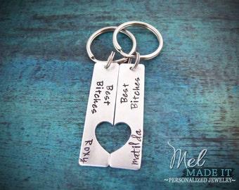 Best Bitches Keychains, Best Friend Keychains, Anniversary Gift, Best Friends, Girlfriends Keychains, Birthday Gift for Friend