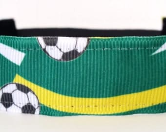 Soccer Headband - Green Soccer Headband - Brazil Soccer Headband - No Slip Headband - Non Slip Headband - Soccer Team Headbands - Team Gifts