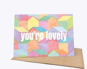 You're Lovely - Housescape - Greeting card