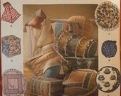 Simplicity 7112 Sewing Pattern Sofa Couch Throw Pillows Bolster Square Ball Pillow Home Decor Uncut