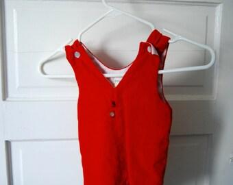 Vintage Red Velvet Jumpsuit