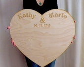 Wedding Guestbook Alternative Personalized Extra Large Wood Custom Engraved Board Unique Wedding Guest Book Rustic Wedding Guestbook