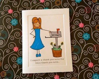 Sarcastic funny thank you card