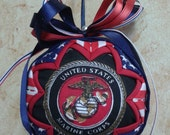 MARINES Quilted Fabric Ornament