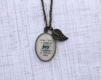 JOY Definition Necklace