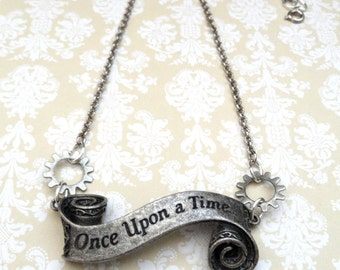 Disney Jewelry, Once Upon a Time Necklace, Wedding Jewelry, Steampunk Necklace, Once Upon a Time Jewelry Disney Necklace, Victorian Jewelry