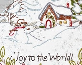 Joy to the World - Winter - Complete Embroidery KIT - Christmas Holiday