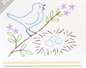 Sing to the Lord - Beginner Embroidery KIT with Bird