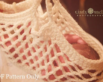 Crocheted Midwifery Scale Sling or Photo Prop - PDF Pattern Only