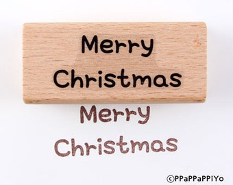 30% OFF SALE Merry christmas Rubber Stamp