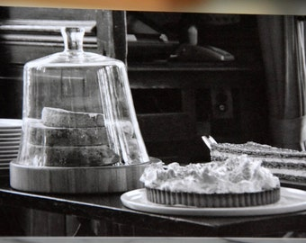 "Paris Notecard, Black & White Photography, Dessert Cart, 4.25""x 6"" (in Envelope)"