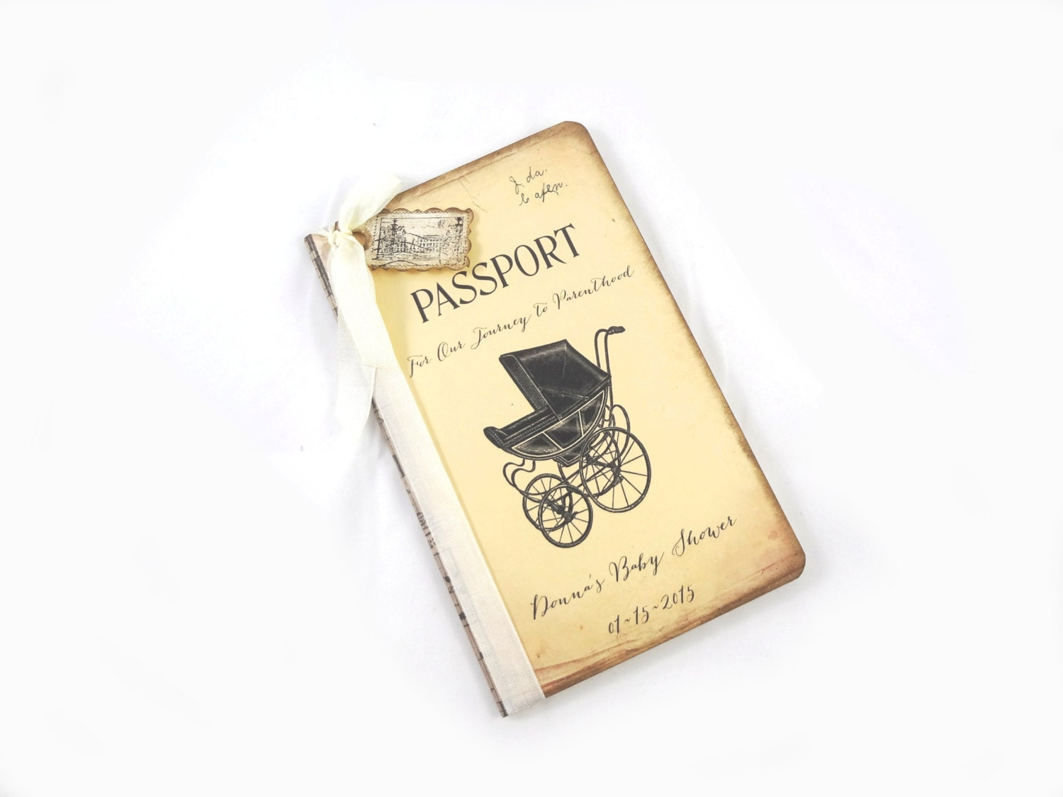 personalized baby shower guestbook travel themed baby shower