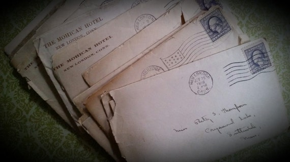 Lot of 100 Year Old Love Letters Antique Handwritten Correspondence Bundle