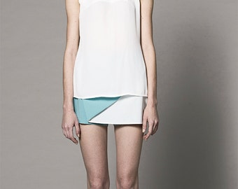 Wrap front styling Skirt & Shorts (Blue)