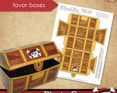 Pirate Cove Favor Boxes • PRINTABLE Birthday • Costume • by The Occasional Day