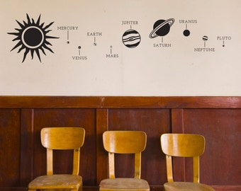 Solar System - Wall Decal Custom Vinyl Art Stickers