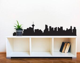 Vacnouver Skyline Silhouette  - Wall Decal Custom Vinyl Art Stickers