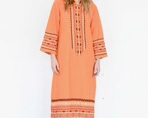 INDIAN COTTON Maxi Dress / INDIA Cotton Dress