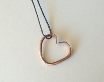 Forged Copper Heart Necklace