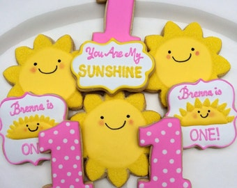 You Are My Sunshine Decorated Cookies