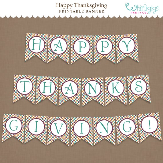 Agile image for happy thanksgiving banner printable