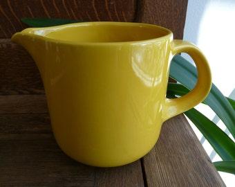 Waechtersbach yellow pitcher, 1 Qt. W. Germany