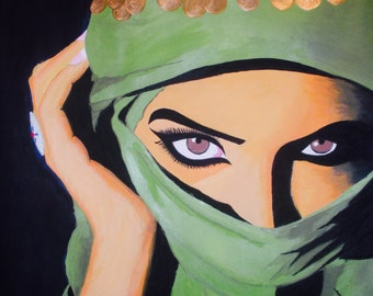 """Leila's - Art by Ahmad Abumraighi - 11"""" x 15"""""""