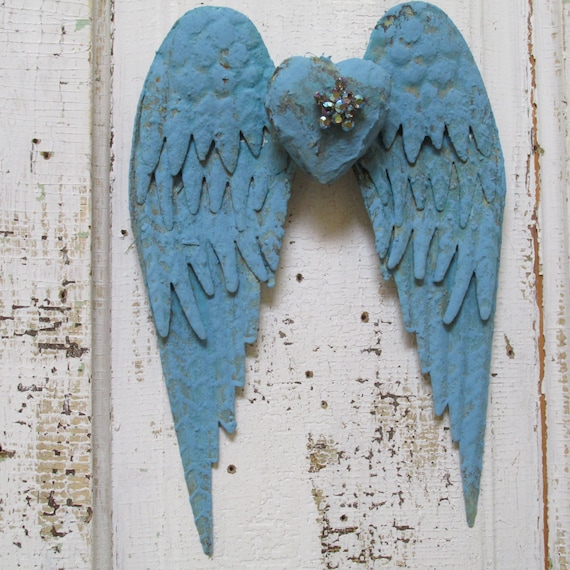 Angel Wings Home Decor: Metal Angel Wings Wall Hanging Home Decor By AnitaSperoDesign