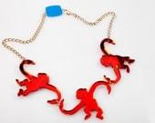 Monkey Necklace. Barrel o' Monkeys Necklace. Tumblin' Monkeys. Monkey Emoji. Statement Necklace. Animal Necklace. Novelty Jewelry. Brighton