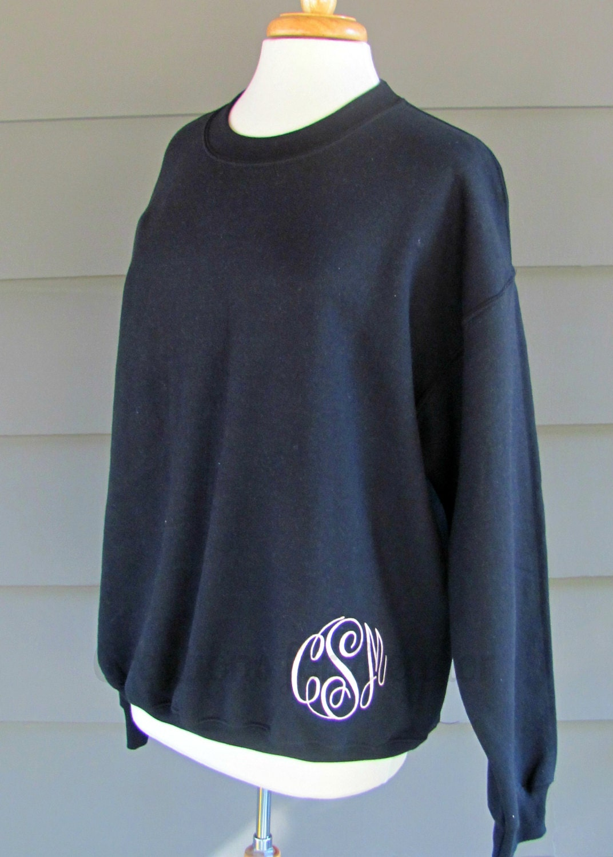 womens monogram pullover monogrammed sweatshirt womens