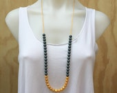 Small Bead Exposed Cord Teething Necklace