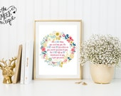 INSTANT DOWNLOAD, Scripture Printable, The Lord Bless You and Keep You, Numbers 6:26-28, No. 300