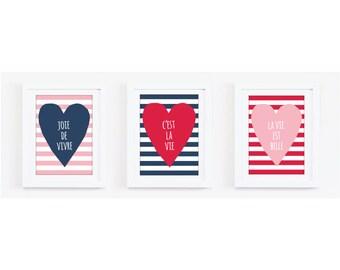 Set of Any 3 Art Prints - 2 sizes A4 & A3